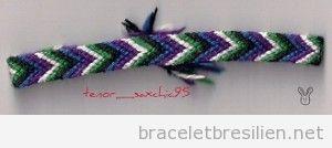 Tutoriel pas à pas, bracelet brésilien à chevron