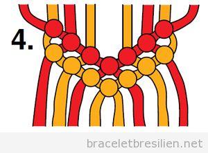 Tutoriel pas à pas, bracelet brésilien à chevron 4
