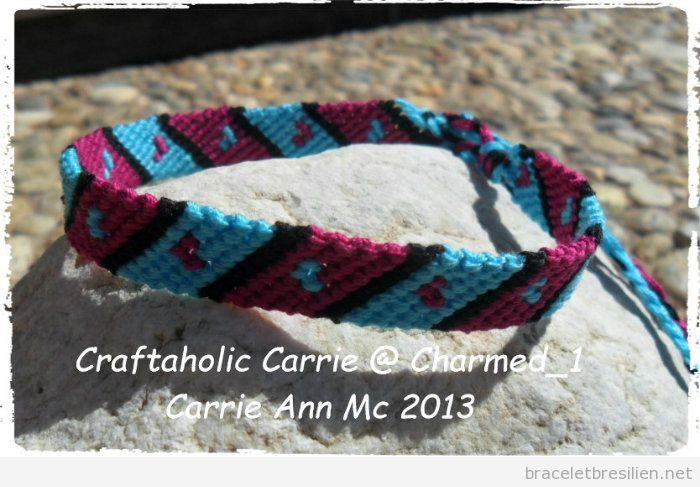 Schema bracelets br siliens tutoriel pas pas pour fabriquer des bracele - Macrame pour debutant ...