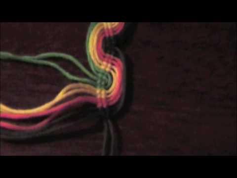 Double vague peruvienne, bracelet en macramé pas à pas
