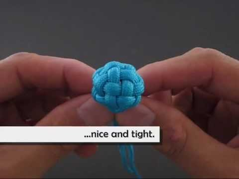Comment réaliser un mini globe avec des noeuds, vidéo pas à pas