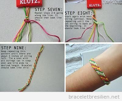 Tuto pas à pas, bracelet amitié facile