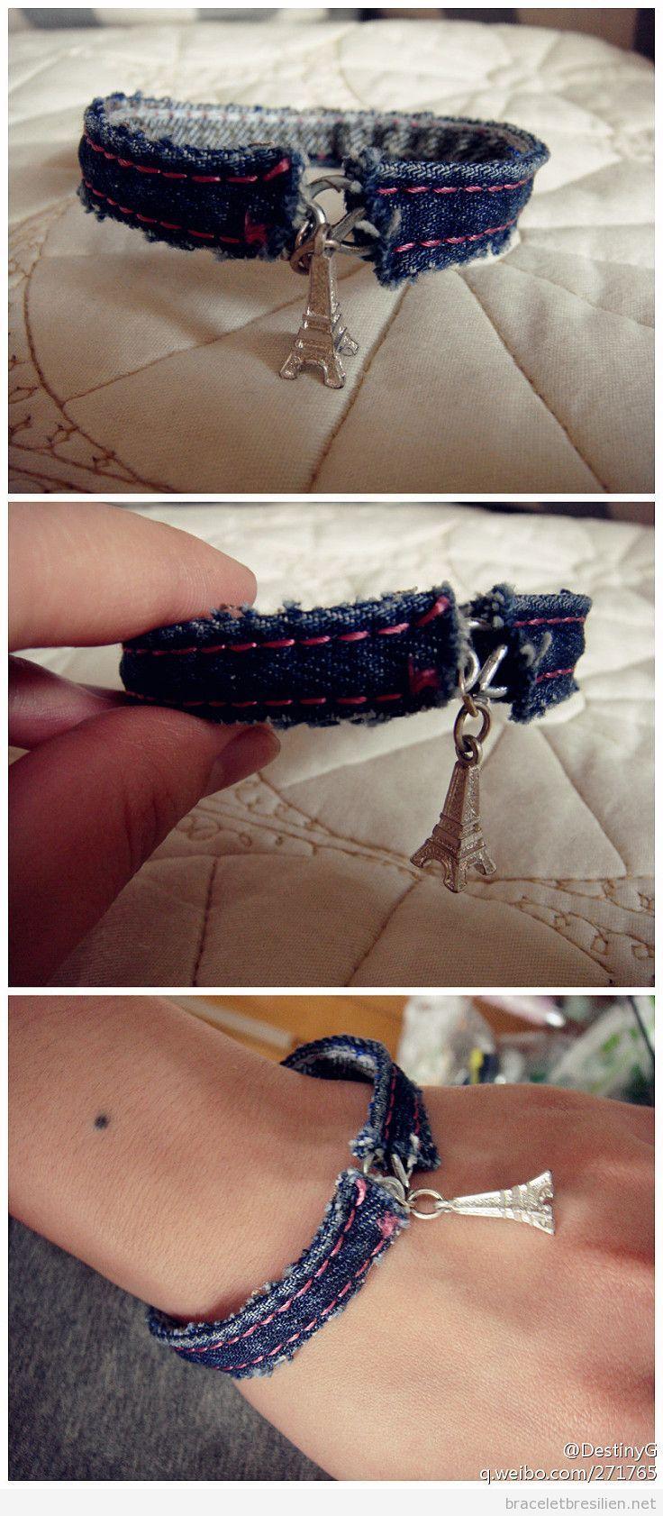 Bracelet DIY en jean