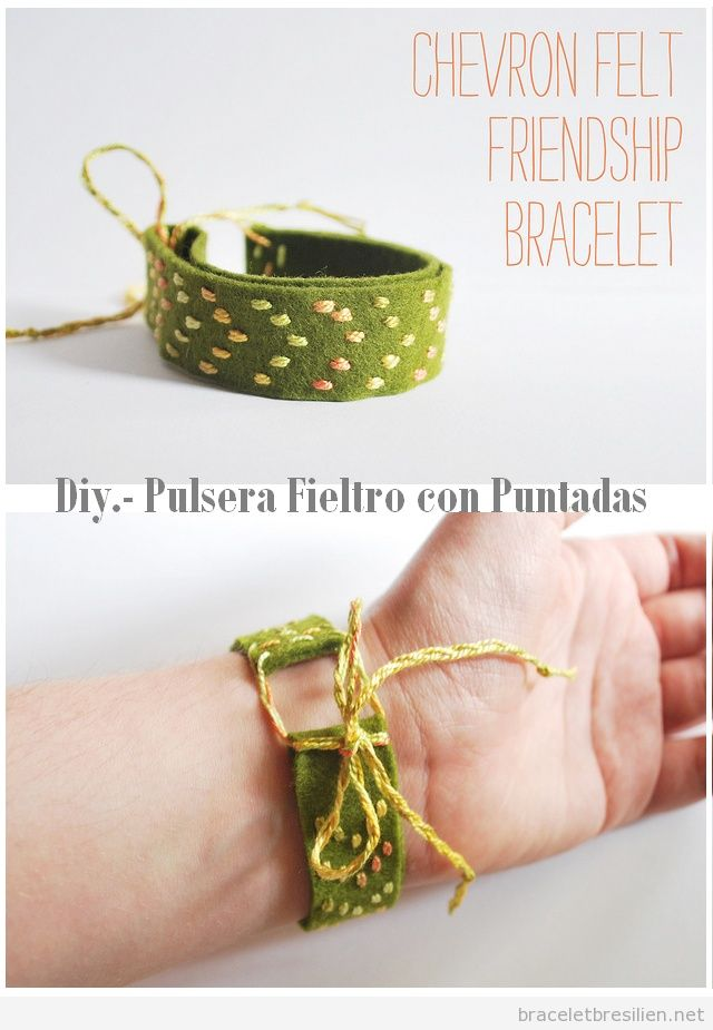 Bracelet DIY en feutrine et fils, simple