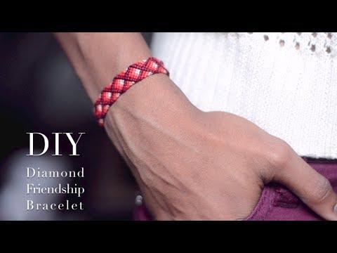 Vidéo tuto, bracelet brésilien motif diamant