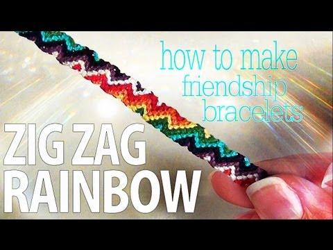 Comment fabriquer un bracelet en macramé, motif zigzag et couleurs arc-en-ciel