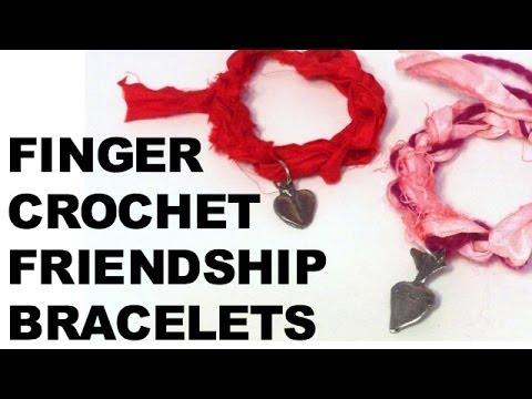 Bracelet DIY, crochet fabriqué avec les doigts, vidéo tuto