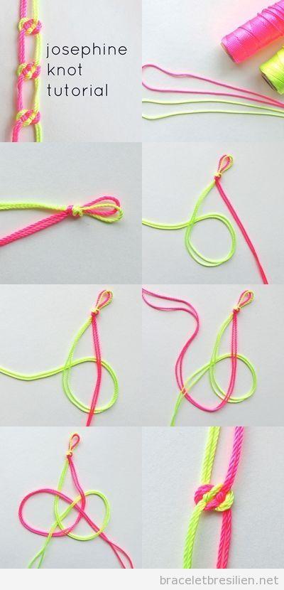 Tuto Bracelet cordes et noeuds pas à pas