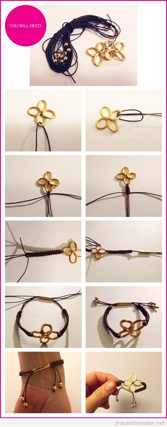 tutoriel, comment réaliser un bracelet noeud avec fils en cuir