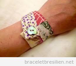 Bracelet patchwork DIY