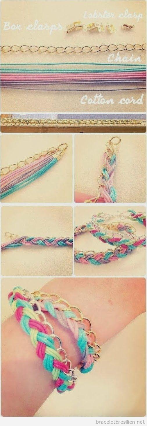 Tuto bracelet DIY en fils et chaines