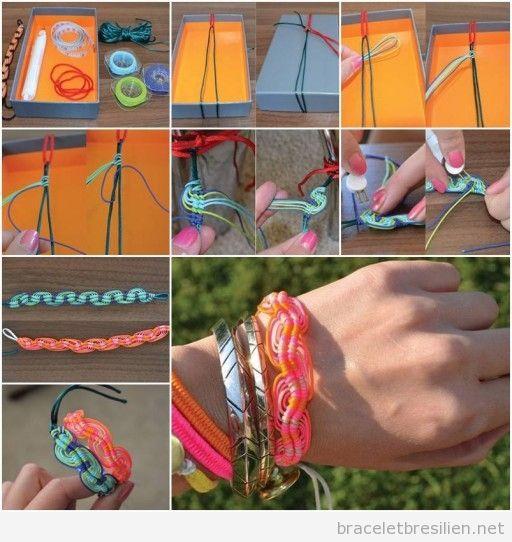 Bracelet fils vague peruvienne, tuto