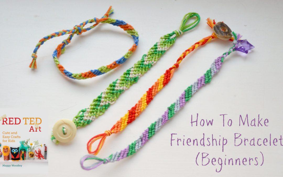 Bracelet de l'amitié motif rayures horizontales pour les débutants (tuto)