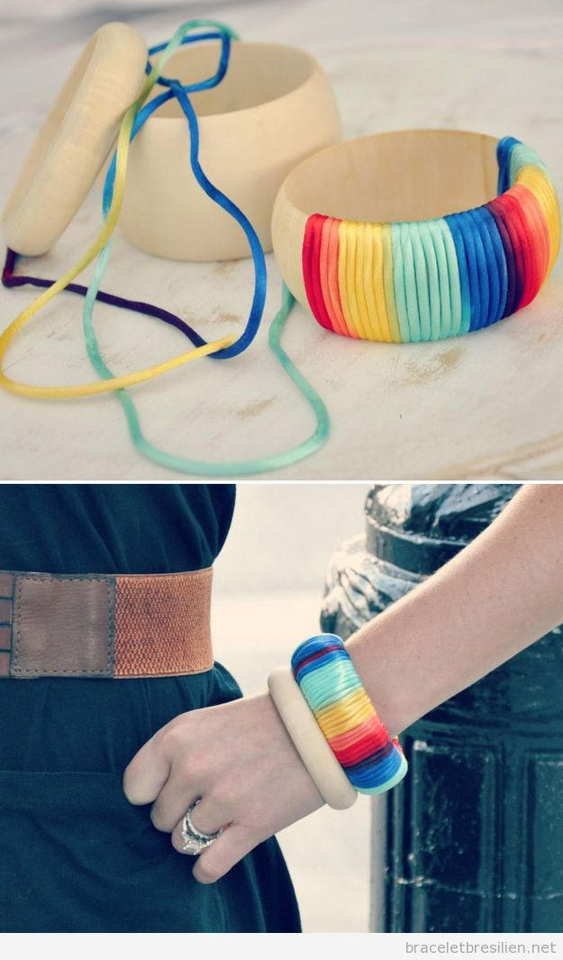 Tuto Bracelet simple fil queue de rat DIY