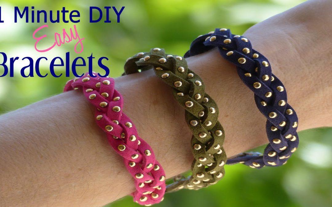 Comment fabriquer un bracelet tressé simple et rapide, tuto pas à pas