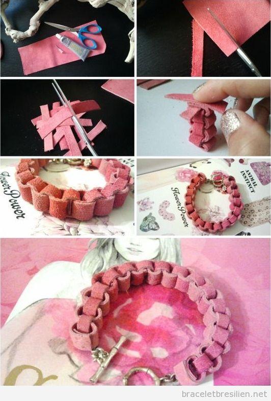Tutoriel bracelet en cuir lié