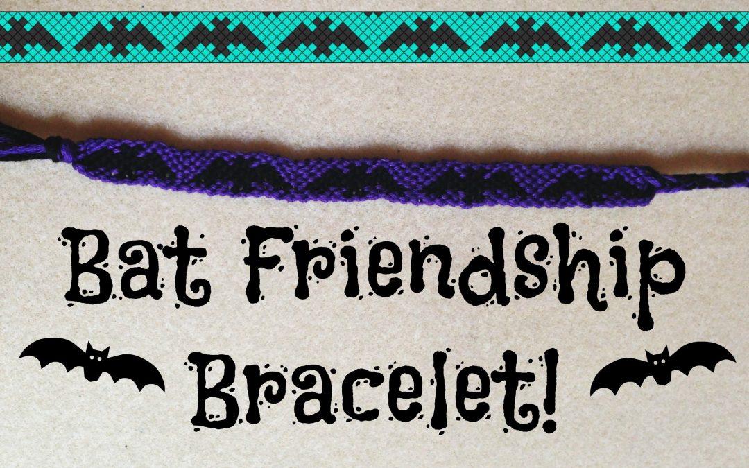 Bracelet de l'amitié, motif de chauve-souris