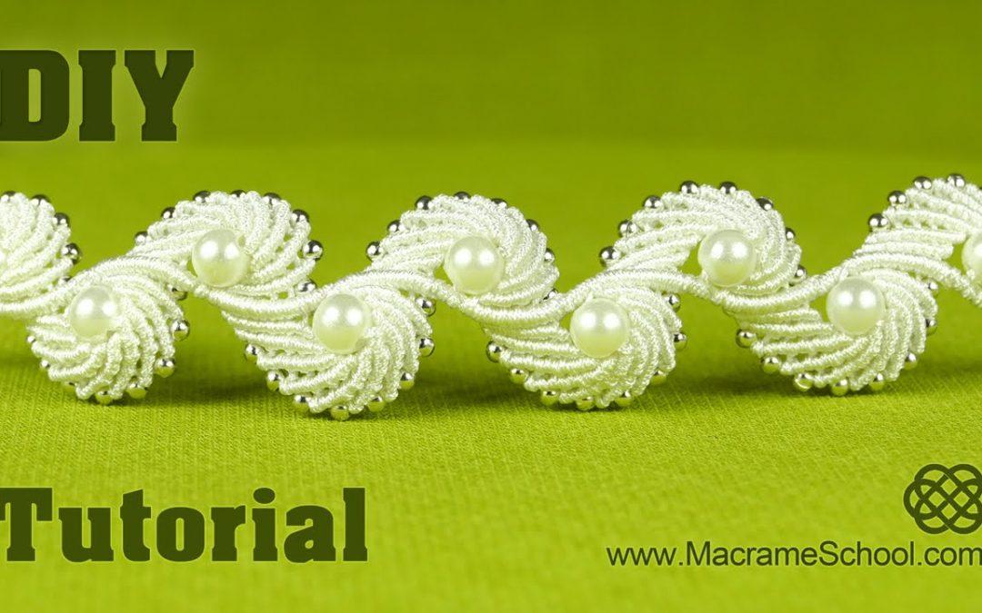 Bracelet en macramé, design d'ailes d'ange
