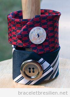 Bracelet DIY vintage, cravate et bouton