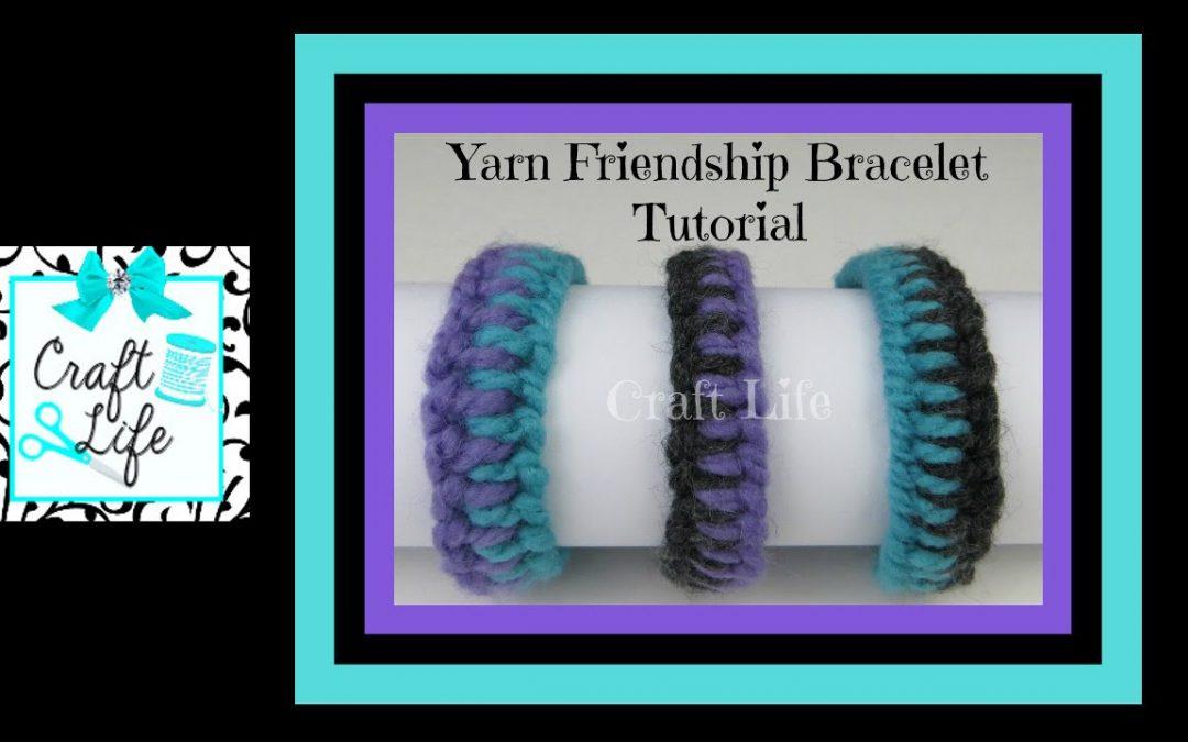 Bracelet fabriqué avec 4 fils de laines de 3 couleurs, très simple (Vidéo)