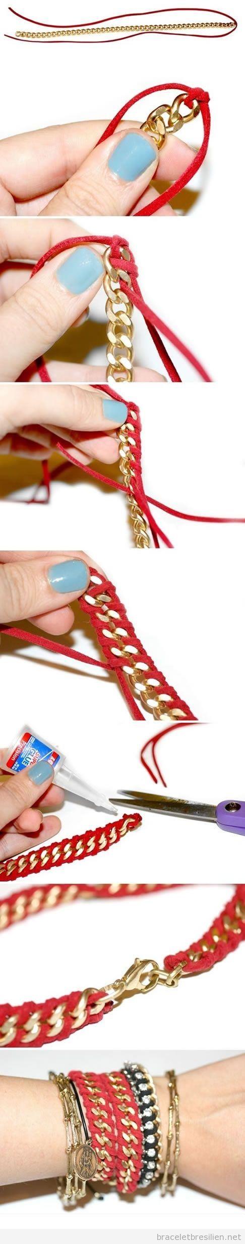 Tuto bracelet chaine et anteline, cadeau Noël