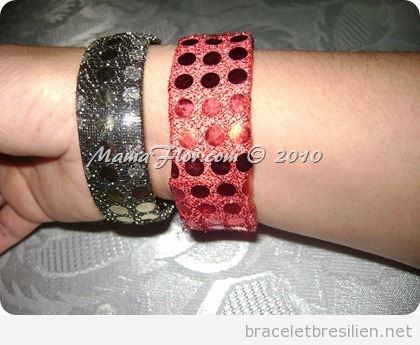 Tuto bracelet Noel simple DIY carton et paillettes 2