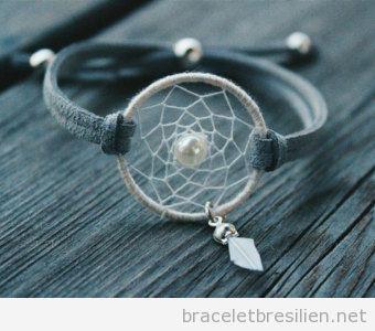 Bracelet de fils capteur de rêves 1