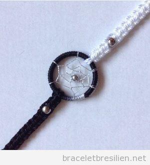 Bracelet de fils capteur de rêves 4
