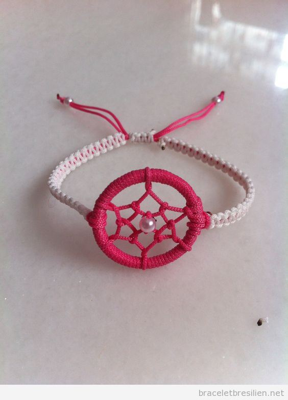 Bracelet de fils capteur de rêves 2