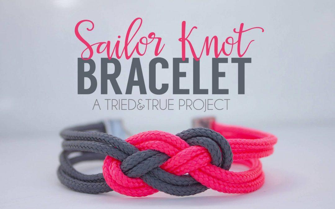 Bracelet noeud marin pour offrir à la Saint-Valentin (Vidéo)