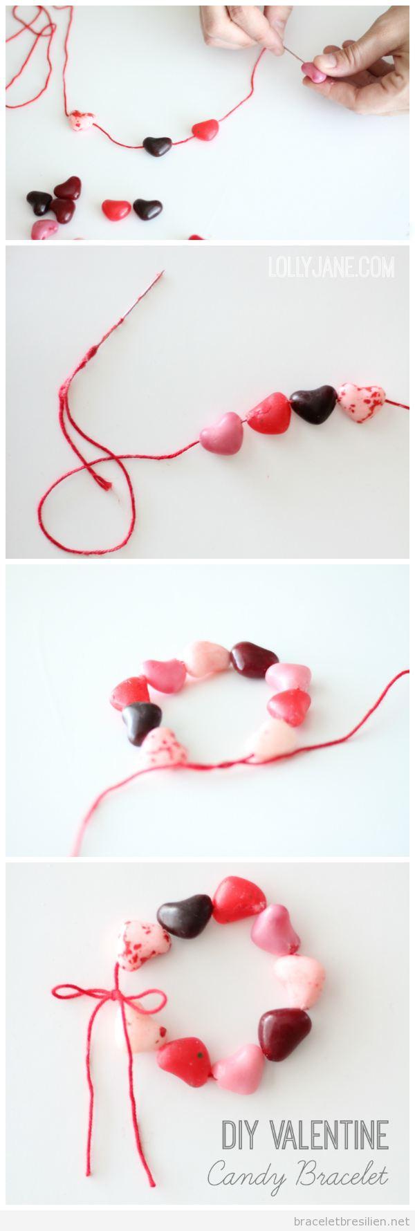 Tutoriel bracelet coeurs bonbon pour la Saint Valentin