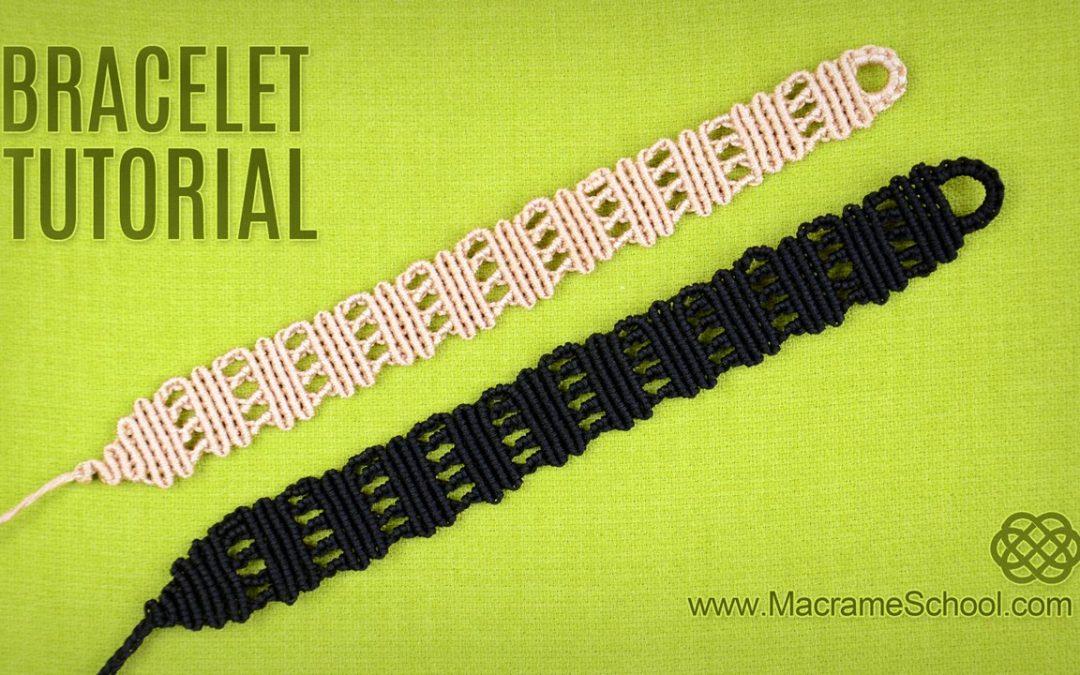 Bracelet en macramé lignes serpentées, vidéo pas à pas