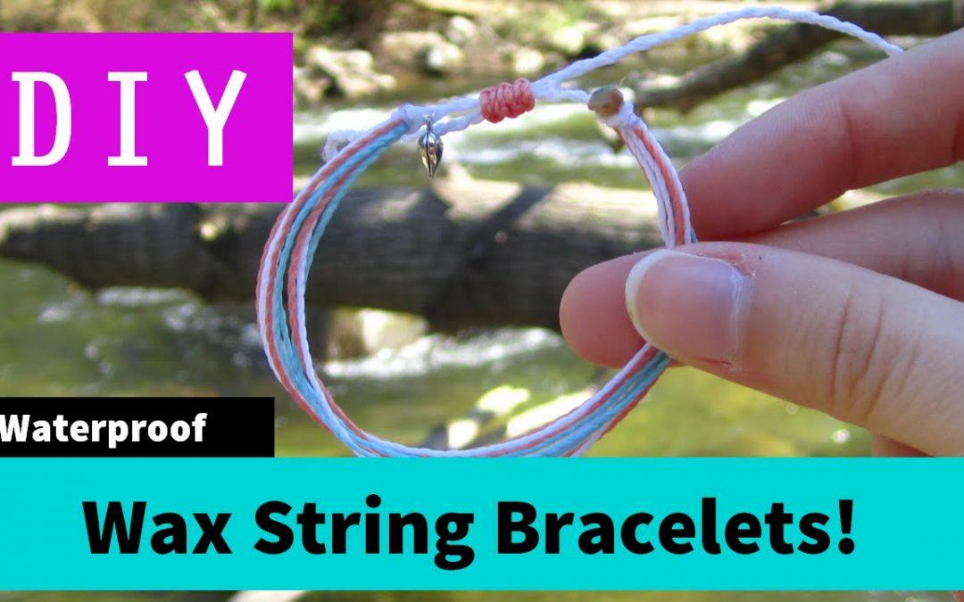 Bracelet réalisé en fils de coton ciré, vidéo pas à pas