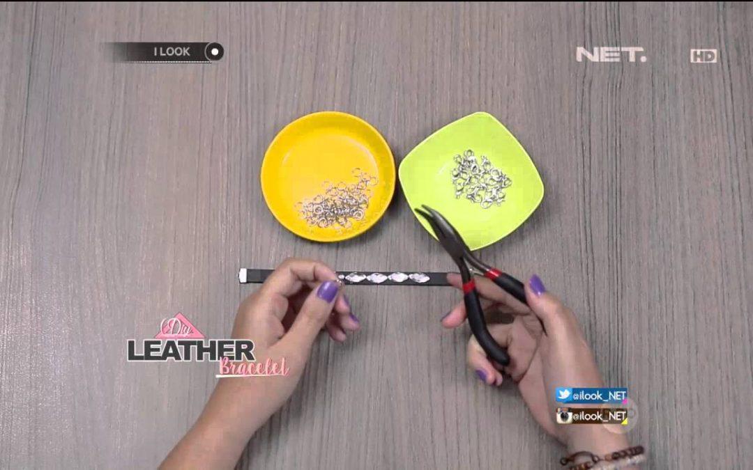 Comment réaliser un bracelet de tires en cuir et brillantes (Vidéo)