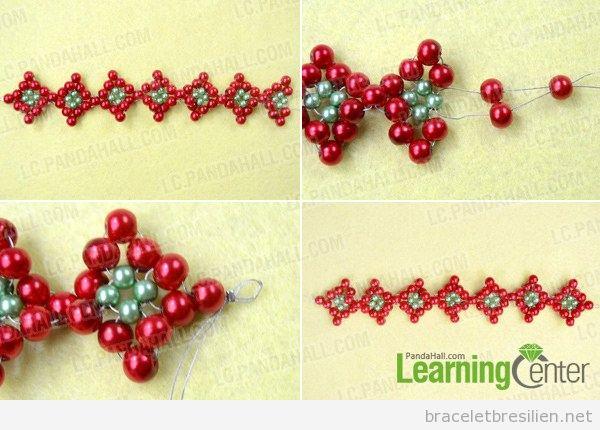 Tuto bracelet DIY Noël avec des perles