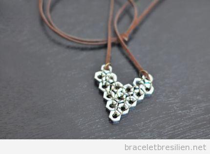 Bracelet DIY offrir Saint Valentin, coeur écroux