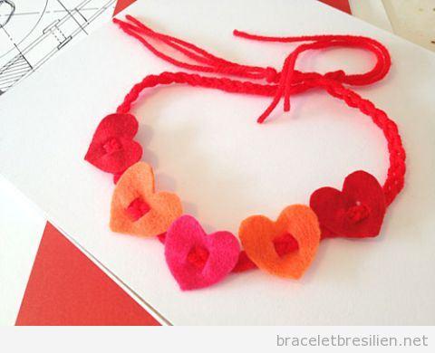 Bracelet simple DIY offrir Saint Valentin pour les enfants 2