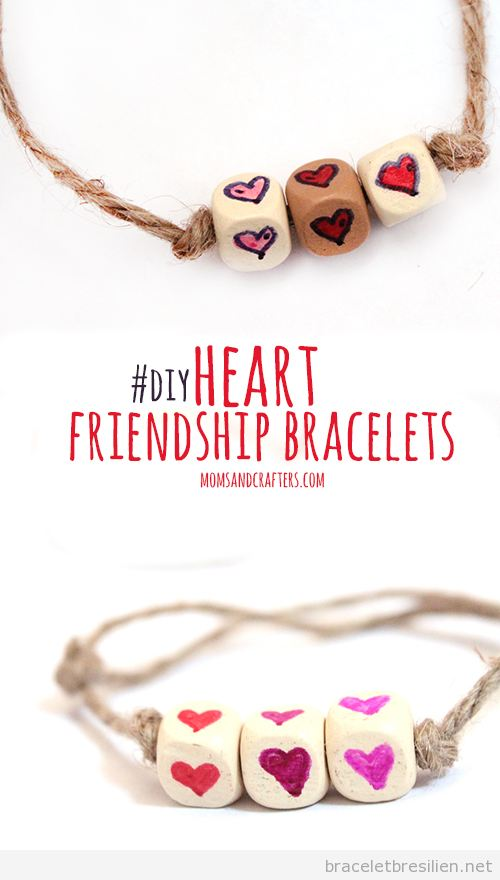 Bracelet simple DIY offrir Saint Valentin 2