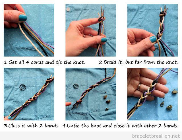 Tuto DIY bracelet cadeau pour hommes Saint Valentin 2