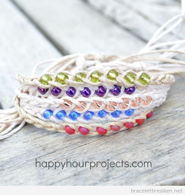 Bracelet a voeux perles de couleurs