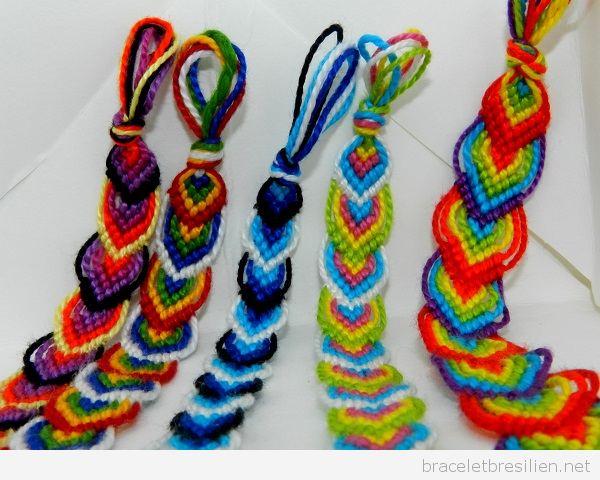 Bracelets brésiliens feuilles automne 4