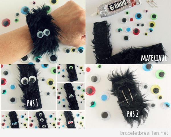 Bracelet Halloween Simple: Monstre Poilu pas à pas