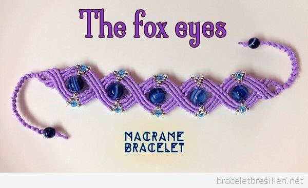 Bracelet en macramé modèle yeux de renard: vidéo pas a pas