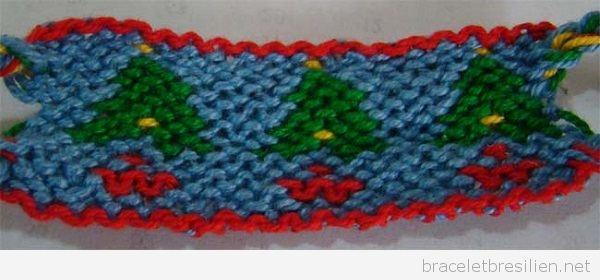 Bracelet brésilien motif sapin de Noel