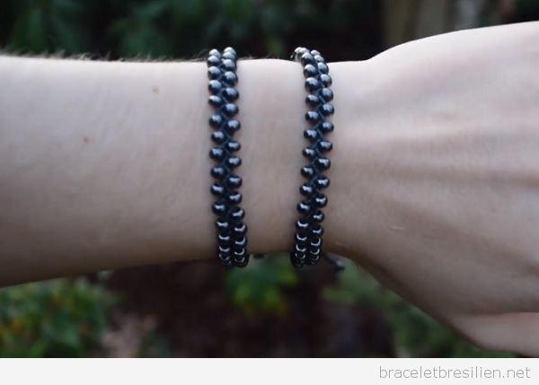 Bracelet de l'amitié modèle «Chemin de perles» de fil ciré, vidéo pas à pas
