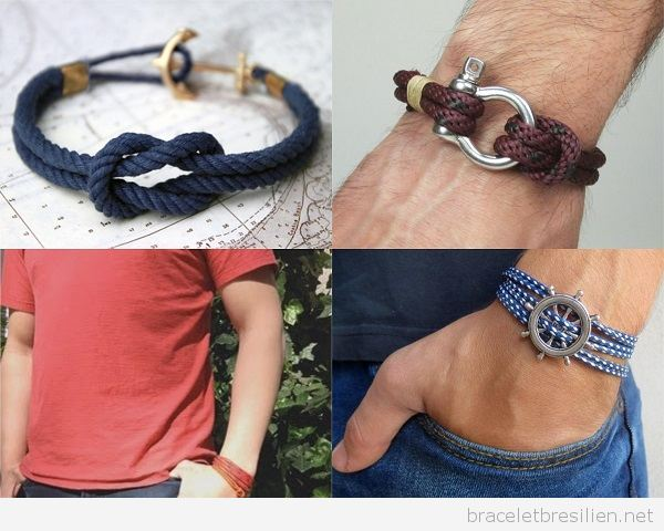 DIY Bracelets pour homme en cordes nautiques