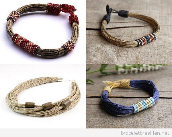 DIY Bracelets pour homme en lin