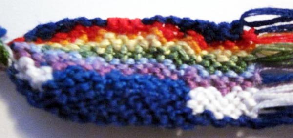 Bracelet brésilien motif arc-en-ciel et nuages 2