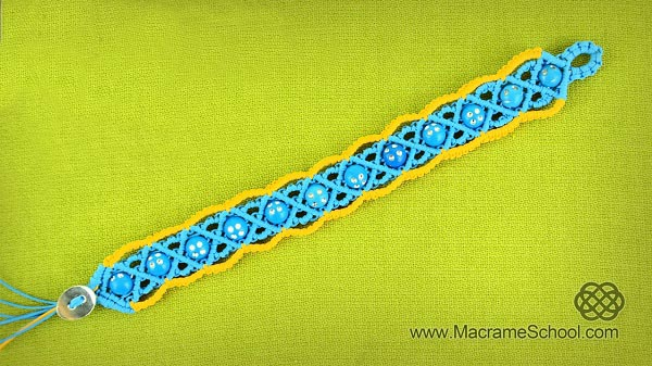 Bracelet macramé été 2