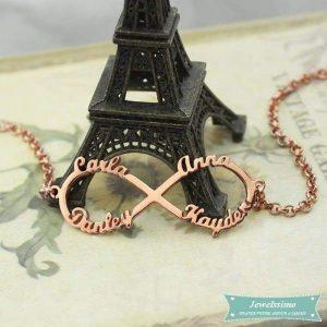 Bracelet quatre prénoms,